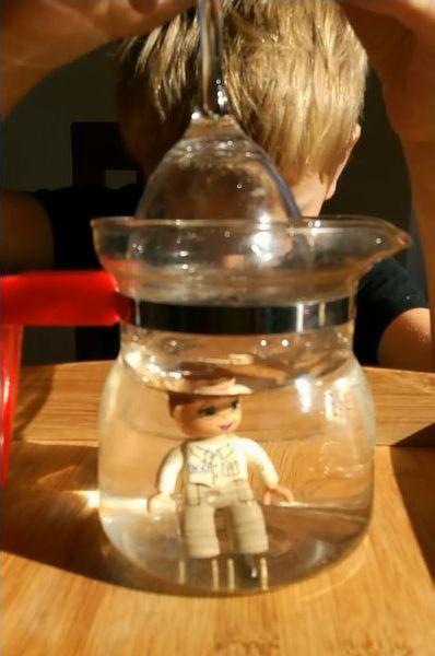 Załamanie światła, ciało w wodzie wydaje się większe?